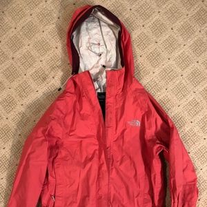Pink North Face Rain Jacket - women's size small